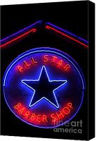 All Star Canvas Prints - All Star Barber Shop Rosenberg TX Canvas Print by Mark Grayden