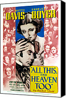Postv Photo Canvas Prints - All This And Heaven Too, Bette Davis Canvas Print by Everett