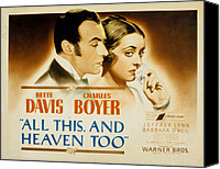 Posth Canvas Prints - All This And Heaven Too, Charles Boyer Canvas Print by Everett