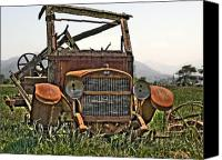 Old Trucks Canvas Prints - All Used Up Canvas Print by Peter Schumacher