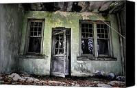 Abandoned Structures Canvas Prints - All Who Enter Canvas Print by Emily Stauring