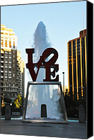 Love Park Canvas Prints - All You Need Is Love Canvas Print by Bill Cannon