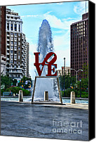 Love Park Canvas Prints - All you need is love Canvas Print by Paul Ward