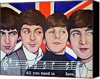 George Harrison Canvas Prints - All You Need is Love  Canvas Print by Tom Roderick