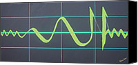 Allah Canvas Prints - Allah in cardiograph Canvas Print by Faraz Khan