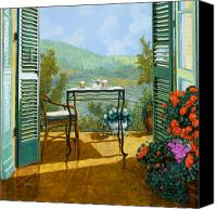 Table Canvas Prints - Alle Dieci Del Mattino Canvas Print by Guido Borelli