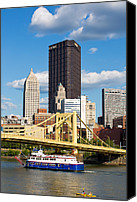 Pittsburgh Pirates Canvas Prints - Allegheny Riverfront Canvas Print by Emmanuel Panagiotakis