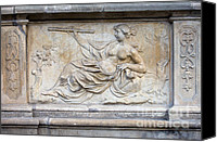 Mythological Canvas Prints - Allegory of Science Relief Canvas Print by Artur Bogacki