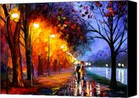  Art Canvas Prints - Alley By The Lake Canvas Print by Leonid Afremov
