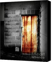 Potography Canvas Prints - Alley Door 2 Canvas Print by Perry Webster