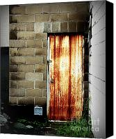 Potography Canvas Prints - Alley Door Canvas Print by Perry Webster
