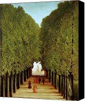 Parcs Canvas Prints - Alleyway in the Park Canvas Print by Henri Rousseau