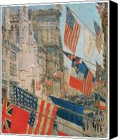 May Day Painting Canvas Prints - Allies Day Canvas Print by Frederick Childe Hassam