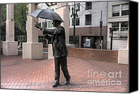 Pioneer Square Canvas Prints - Allow me Canvas Print by David Bearden