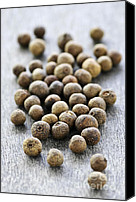 Dry Canvas Prints - Allspice berries Canvas Print by Elena Elisseeva