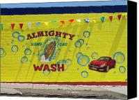 Car Wash Canvas Prints - Almighty Car Wash Canvas Print by David Kyte