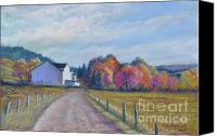 Old Country Roads Canvas Prints - Almost Home Canvas Print by Penny Neimiller