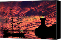 Ship Mixed Media Canvas Prints - Almost Home Canvas Print by Shane Bechler