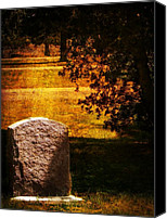 Tombstone Canvas Prints - Alone under the Sycamore Canvas Print by Leah Moore