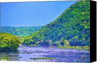 Harpers Ferry Canvas Prints - Along the Potomac in West Virginia Canvas Print by Bill Cannon