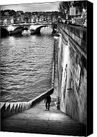 La Seine Canvas Prints - Along the Seine Canvas Print by John Rizzuto