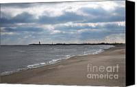 Beaches Canvas Prints - Along The Shore Canvas Print by Dan Holm