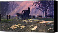 Carriage Canvas Prints - Along the Way Canvas Print by Dieter Carlton