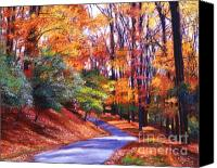 Fall Leaves Canvas Prints - Along the Winding Road Canvas Print by David Lloyd Glover