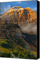 Craggy Canvas Prints - Alpenglow on Mt. Timpanogos Canvas Print by Utah Images