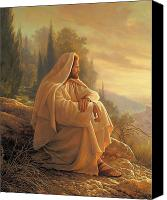 Looking Canvas Prints - Alpha and Omega Canvas Print by Greg Olsen