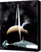 Rocketship Canvas Prints - Alpha Centauri 3 Canvas Print by Bill Wright