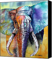 Animal Canvas Prints - Alpha Canvas Print by Maria Barry