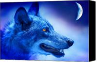 Featured Photo Canvas Prints - Alpha Wolf Canvas Print by Mal Bray