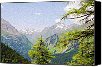Alpine Canvas Prints - Alpine Altitude Canvas Print by Jeff Kolker