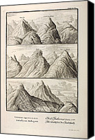 Noah Canvas Prints - Alpine Geology Flood Evidence Scheuchzer. Canvas Print by Paul D Stewart