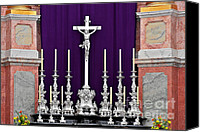 Worship Canvas Prints - Altar Dresdener Hofkirche Canvas Print by Christine Till