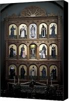 Assisi Canvas Prints - Altar Screen Cathedral Basilica of St Francis of Assisi Santa Fe NM Canvas Print by Christine Till