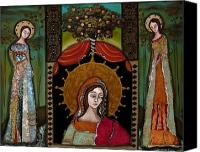 Religious Mosaic Mixed Media Canvas Prints - Altar Screen Canvas Print by LoriAnn Altered-posh