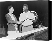 Robinson Canvas Prints - Althea Gibson 1927-2003 And Jackie Canvas Print by Everett