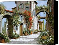 Tuscany Painting Canvas Prints - Altri Archi Canvas Print by Guido Borelli