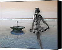 Topsail Island Canvas Prints - Always Looking to the Light Canvas Print by East Coast Barrier Islands Betsy A Cutler