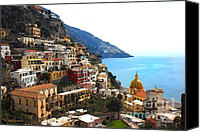 Amalfi Coast Canvas Prints - Amalfi Coast - Positano-3 Canvas Print by Rodger Underwood