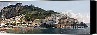 Amalfi Coast Canvas Prints - Amalfi Coast Canvas Print by Jim Chamberlain