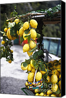 Amalfi Coast Canvas Prints - Amalfi Coast Lemon Stand Canvas Print by George Oze