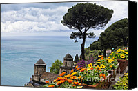 Amalfi Coast Canvas Prints - Amalfi Coast Spring Vista Canvas Print by George Oze