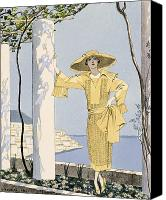 Amalfi Coast Canvas Prints - Amalfi Canvas Print by Georges Barbier