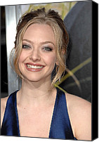 Updo Canvas Prints - Amanda Seyfried At Arrivals For Dear Canvas Print by Everett