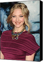 Updo Canvas Prints - Amanda Seyfried  Wearing A Tom Binns Canvas Print by Everett