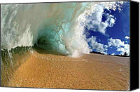 Robert Anderson Photo Canvas Prints - Amazing wave crashing Canvas Print by Robert Anderson