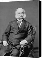 Politician Canvas Prints - Ambrose Burnside and His Sideburns Canvas Print by War Is Hell Store